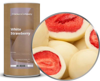 WHITE STRAWBERRY Membrandose groß 600g