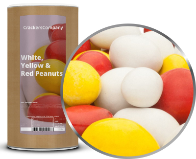 WHITE, YELLOW & RED PEANUTS Membrandose groß 950g