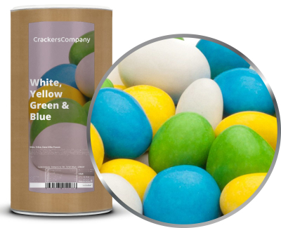 WHITE, YELLOW, GREEN & BLUE PEANUTS Membrandose groß 950g