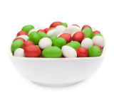 WHITE, RED & GREEN PEANUTS
