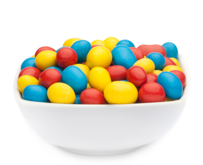 YELLOW, RED & BLUE PEANUTS