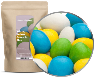 WHITE, YELLOW, GREEN & BLUE PEANUTS ZIP Beutel 750g