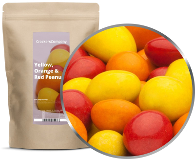 YELLOW, ORANGE & RED PEANUTS ZIP Beutel 750g