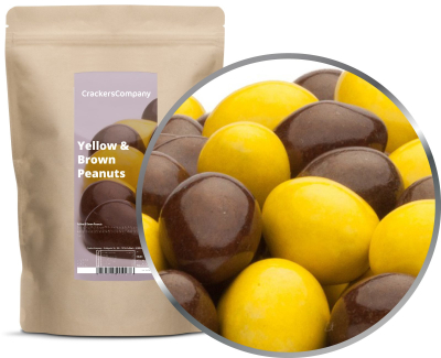 YELLOW & BROWN PEANUTS ZIP Beutel 750g