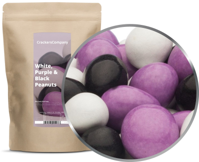 WHITE, PURPLE & BLACK PEANUTS ZIP Beutel 750g