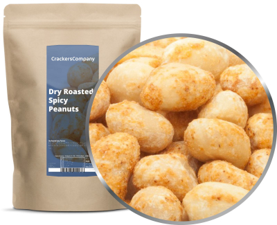 DRY ROASTED SPICY PEANUTS ZIP Beutel 500g
