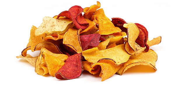 Snacks with fruit and vegetable chips