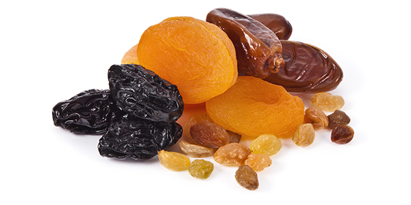 Snacks with candy dry fruit